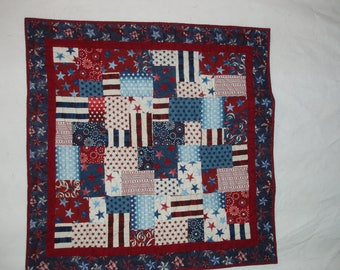 Red, White and Blue Patriotic Quilt