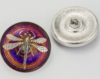 23mm Iridescent Volcano Dragonfly Button #BUT012