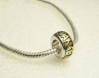 DANCE Two Tone European Bead Large Hole Gold on Silver