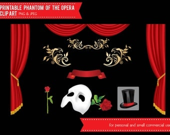 Phantom of the Opera Digital Clip Art - INSTANT DOWNLOAD