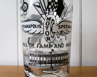 vintage Indianapolis Motor Speedway Hall of Fame and Museum glass tumbler