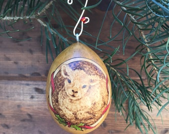 Baaah! Lamb Ornament egg gourd