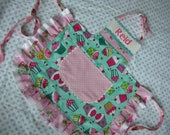 Girls Aprons - Girls Aprons with Cupcake Fabric - Turqoise Girls Apron - Girls Pink Apron - Girls Aprons with Pockets - Annies Attic Aprons