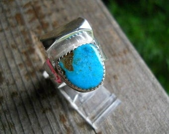Native American Jewelry ring size 11 turquoise