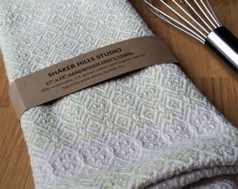 Lime Green Towel Handwoven Susatinable Cotton Organic Cottolin