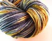 SALE... Was 8.50... Now 6.00...BRAVEHEART...handspun, handpainted wool yarn...4oz...180yd
