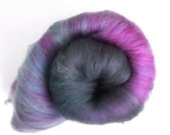 Carded Batt Hand Dyed Whitefaced Woodland Wool 100g 3.5oz WW05