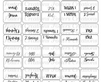 Double Sided-PRINTABLE Bible Tabs-Blank Background-Afrikaans version