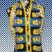 Crochet Edge Fleece Scarf, Slim Muffler, Bufanda, The Many Faces of Homer