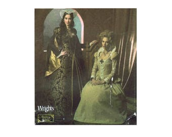 Tudor Elizabethan Historical Gown Headpiece Bumroll Costume Simplicity 4508 Sewing Pattern Size 8 - 10 - 12 - 14 Uncut