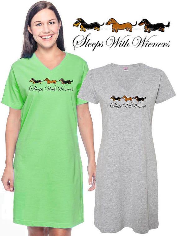 Dachshund Sleep Shirt Sleeps with Wieners