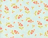 Coney Island - Posies in Ocean Blue: sku 20282-13 cotton quilting fabric by Fig Tree and Co. for Moda Fabrics - 1 yard
