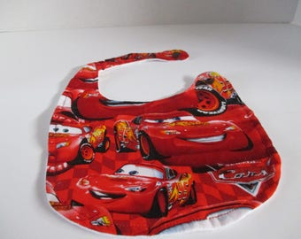 Cars baby bib, babies, baby bib, baby accessory, baby shower, infants, boys, baby and infants,  newborns, drooling, spit up, feeding
