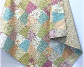 Lap Throw Quilt Tumbler with Fig Tree Fig and Plum fabrics Old Fashion Country Charm