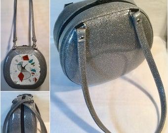 Retro Swirl Atomic Handbag - Shoulder Bag - Headset Case