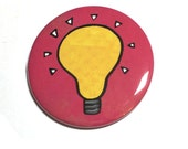 Lightbulb Pin or Magnet -...