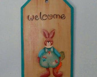 Hand painted Spring Welcome Sign