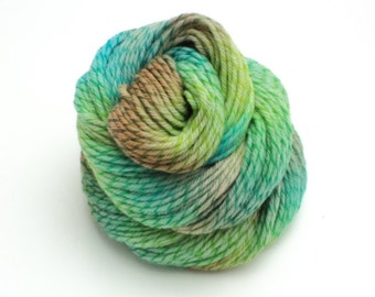 Deep Forest, Twisted, Hand Dyed, Hand Painted, Worsted, Yarn