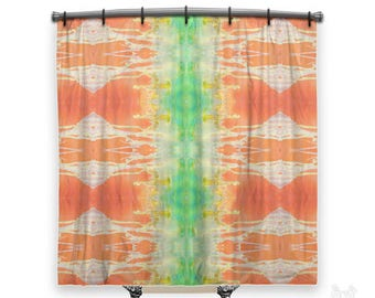 tangerine curtains | etsy