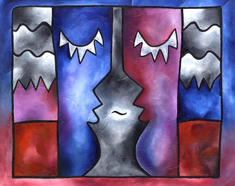 Conversation Peace ~  11x14 matted print by Joel Traylor