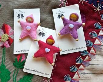 Heart Star Baby Pin  for Custom Orders