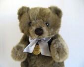 Vintage Limited Edition Jointed Teddy Bear Stuffed Animal by Dakin Original Metal Tag Original Ribbon 1980s Toys Classic Teddy Bear 1986