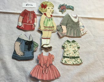 Aunt Lindy's Fabric Paper Dolls With Five Dresses