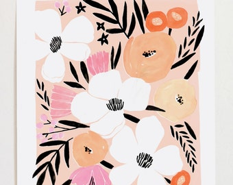 Pink Floral Bouquet I