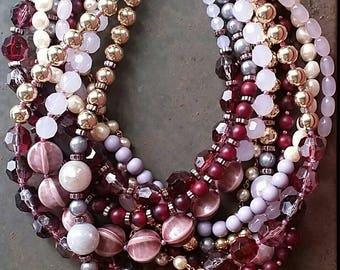 Royal Purples...A Multi-Strand Necklace from Wendy Baker