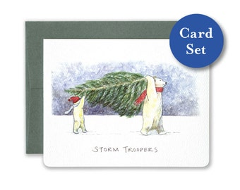 Storm Troopers Card Set of 8