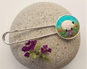 Sheep Shawl Pin Kilt Pin Brooch