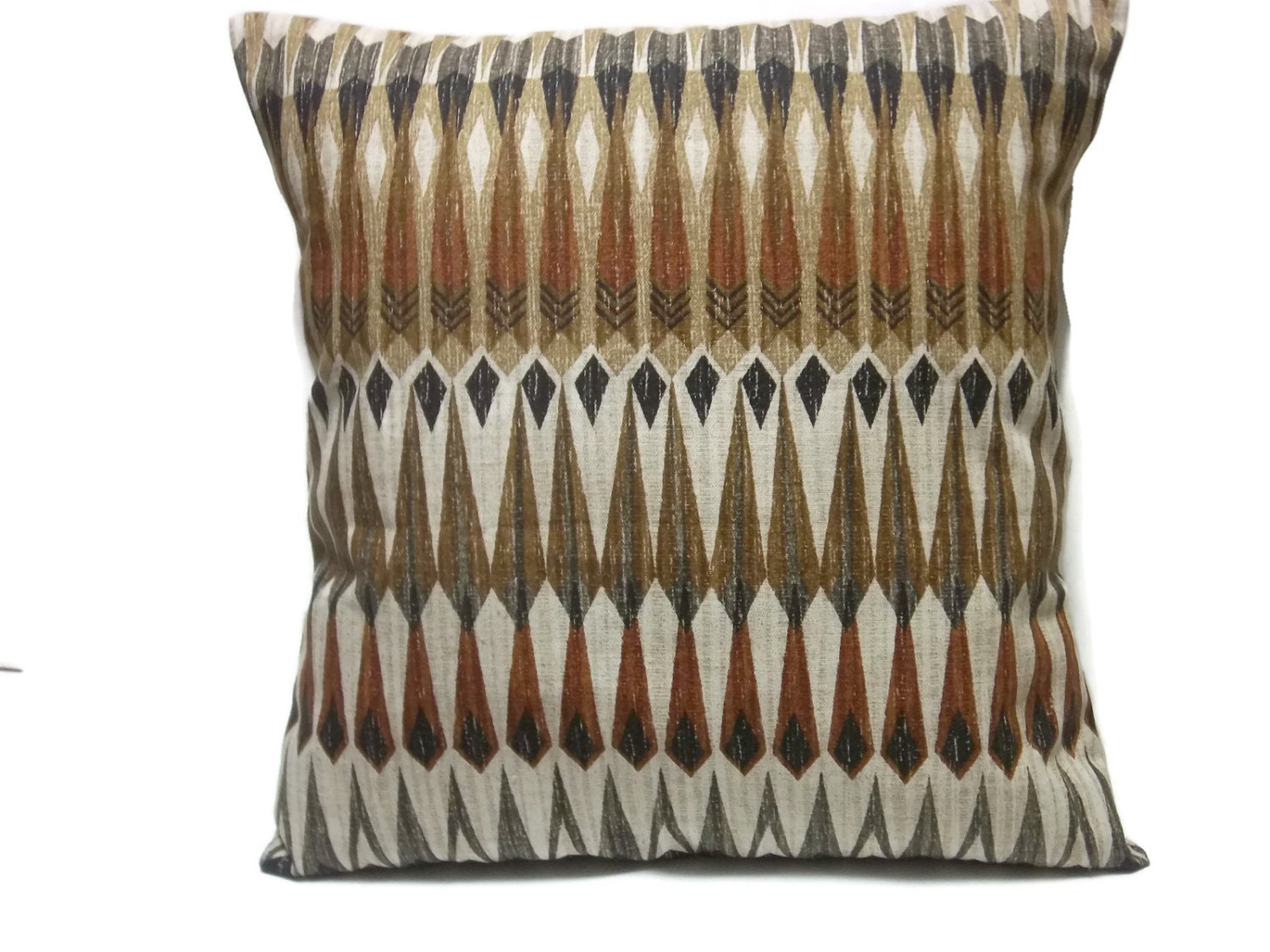 decorative pillow cover gray rust black brown taupe multi. Black Bedroom Furniture Sets. Home Design Ideas