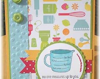 Cute Mother's Day Card with Kitchen Theme