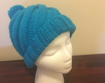 Chunky knit spiral hat