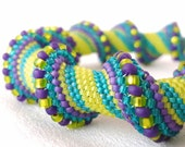 Carnavale Cellini Spiral Beadwoven Bangle Bracelet
