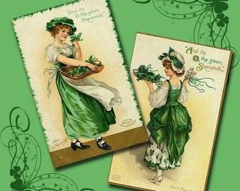 Vintage St Patricks Day Collage Sheet 1