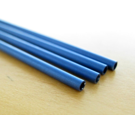 items similar to anodized aluminum tubing 3 32 blue on etsy. Black Bedroom Furniture Sets. Home Design Ideas