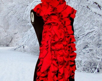 Ultimate RUFFLE Scarf Red