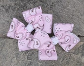 Pink Paisley Hair Bows,Pigtail Hair Bows,Toddler Hair Bows,French Barettes,4 Inch Hair Bows