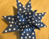"5/8"" Weaving Star Paper~ Blue Stars (52 strips)"