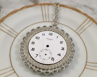 Steampunk Necklace, Clock Part Necklace, Watch Part Necklace,Gift for her, gift under 30, girlfriend gift, sister gift, best friend gift