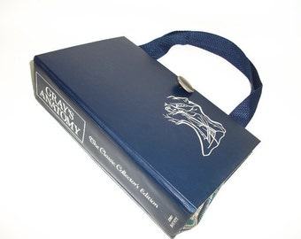 Gray's Anatomy Classic Book Purse, Handbag, Book Clutch