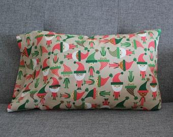 Christmas Elves Toddler Pillowcase - fits 13 x 18 Travel Pillow LAST ONE