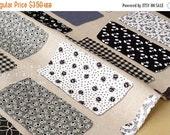 Japanese Fabric Yuwa - Masking Tape - black, grey - fat quarter