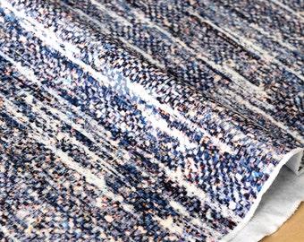 Japanese Fabric Ponte Knit - weave blue - 50cm