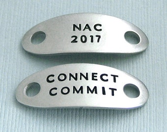 2017 NAC NOC RNC Akc National Championship Shoe Tags - Hand Stamped Pewter