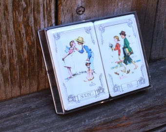 Norman Rockwell Spring and Fall Playing Cards - Two Complete Decks (Open and Sold Separately)