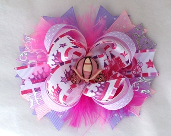 Princess Hair Bow with Barrette