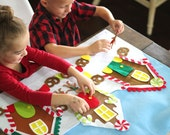 Gingerbread Village Felt Activity Set