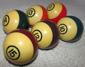 Vintage Striped Billiards Pool Ball, Catalin Bakelite, pool accessory, collectible, home decor, Standard pool balls, display